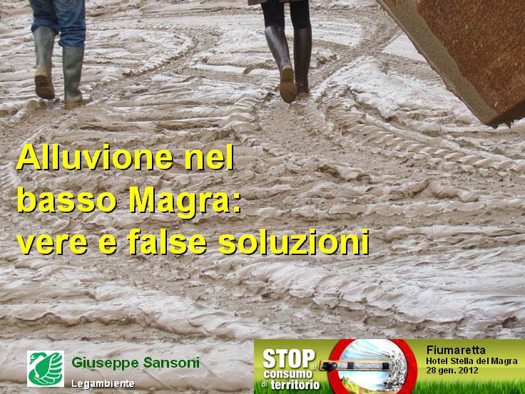 Alluvione nel basso Magra: vere e false soluzioni